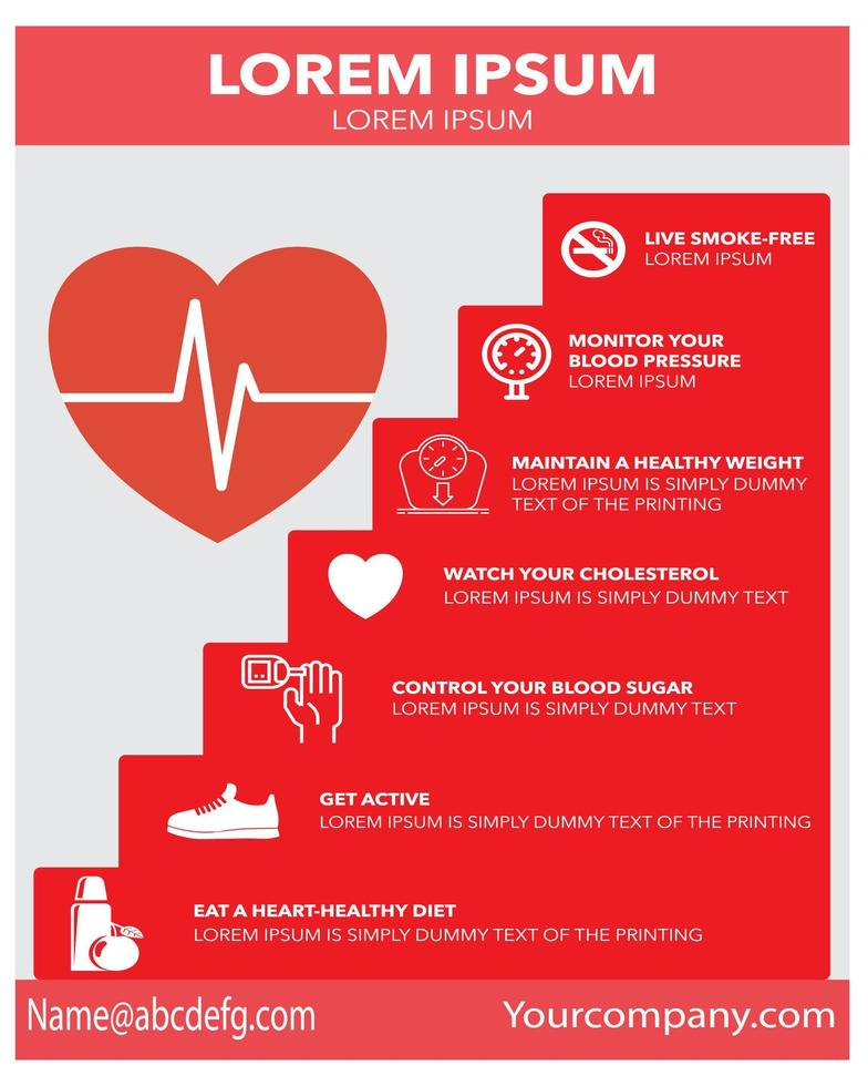 folleto de promoción de negocios médicos de salud del corazón vector