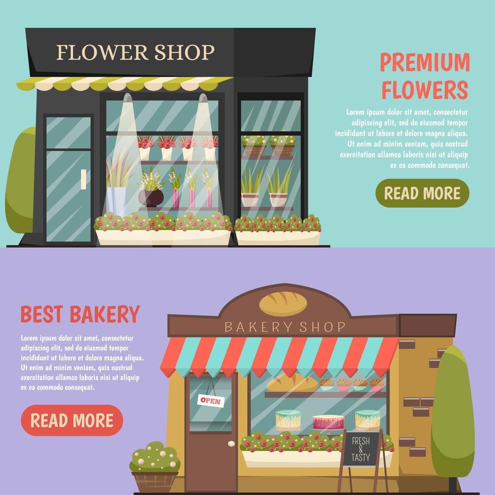 Advertisement template banner set vector