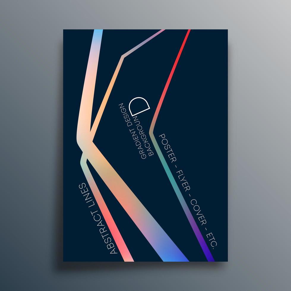 papel tapiz de textura de degradado lineal, volante, cartel, folleto vector
