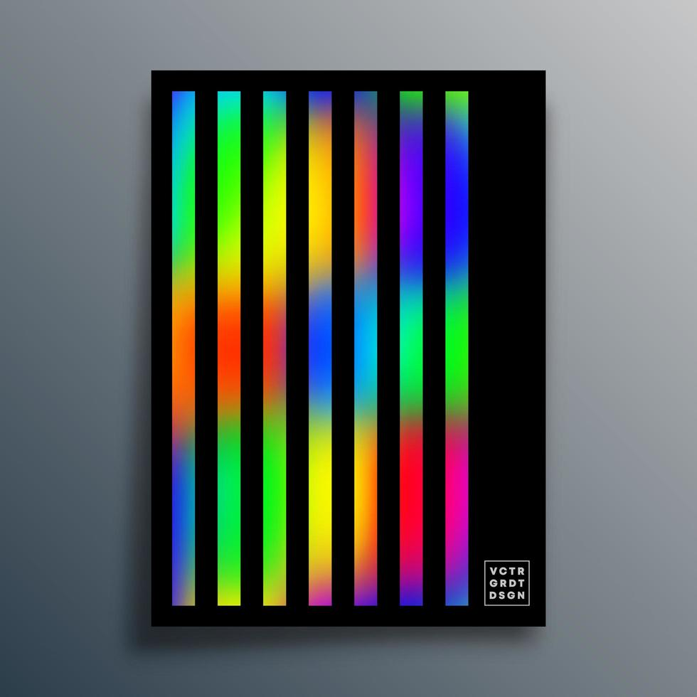 plantilla de textura degradada con diseño lineal en negro vector