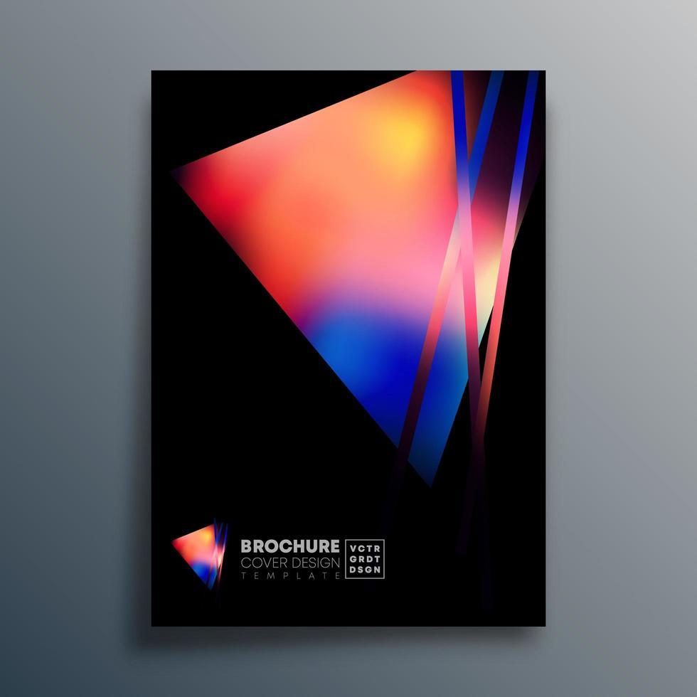 diseño de triángulo degradado para póster, papel tapiz, volante, folleto vector