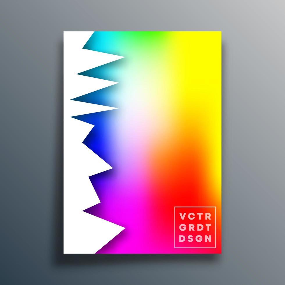 diseño degradado colorido irregular para flyer, cartel, folleto vector