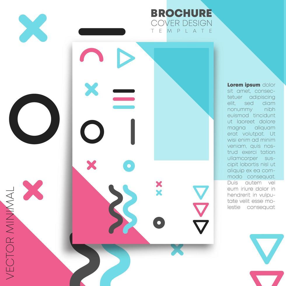 diseño minimalista de memphis para flyer, cartel, folleto vector