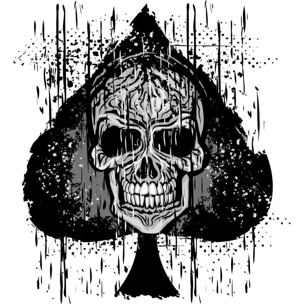 icono de espadas con calavera grunge vector