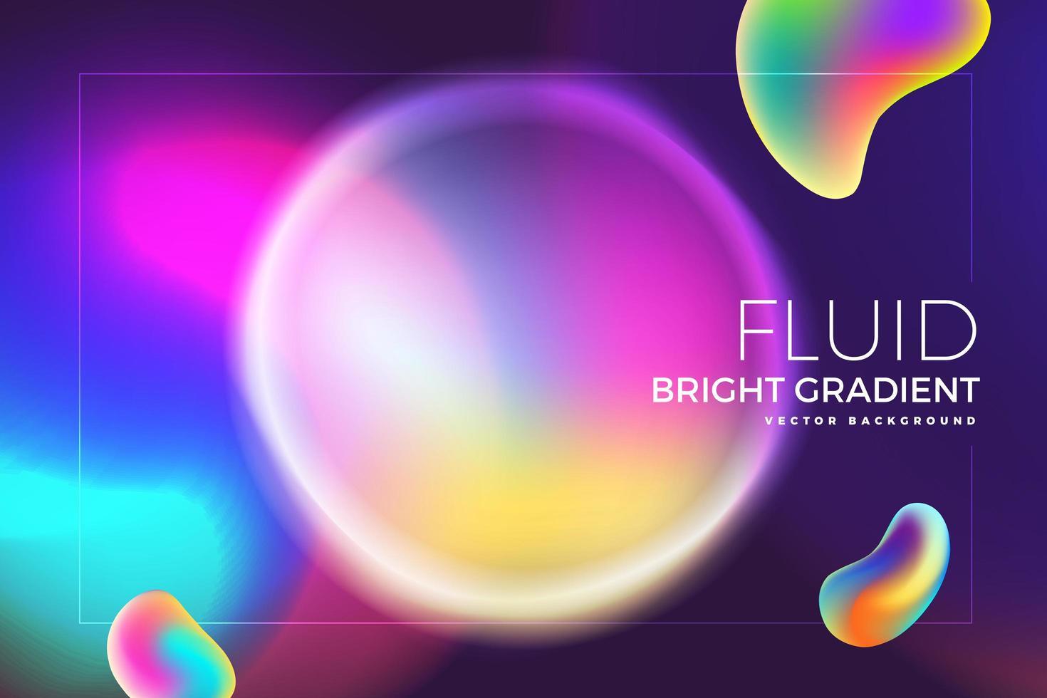 Holographic fluid bright gradient design vector