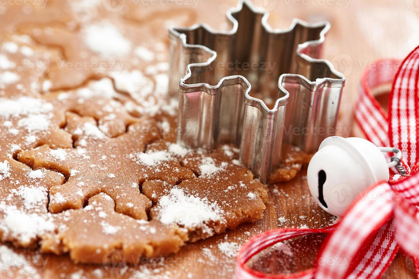 Making gingerbread cookies for Christmas photo