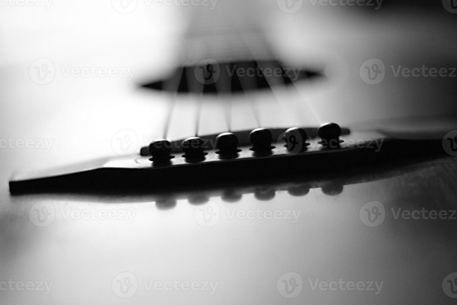 Black And White Guitar photo