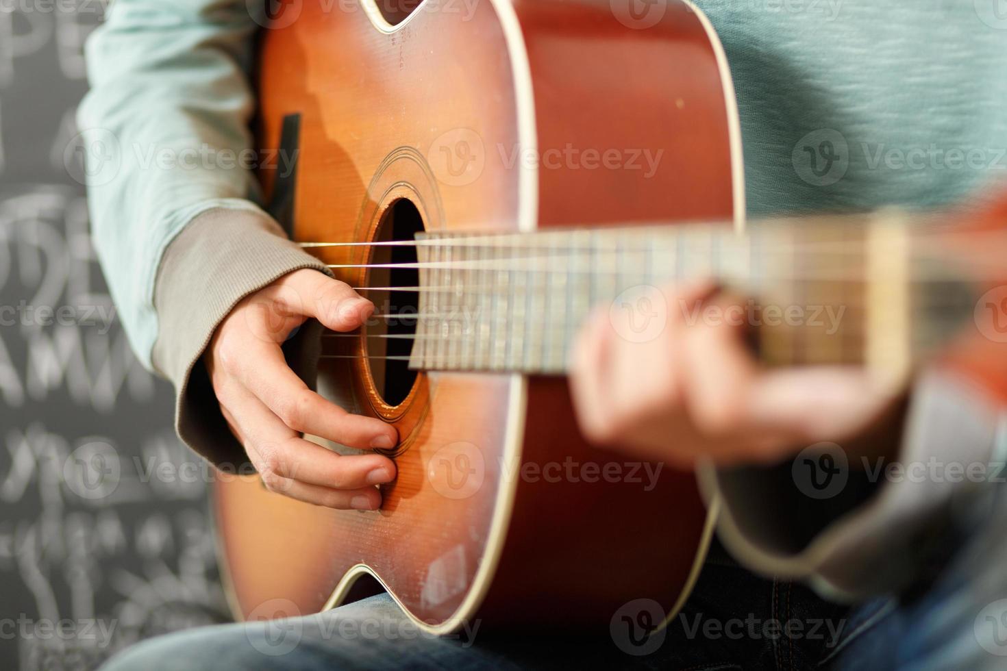 playing guitar photo
