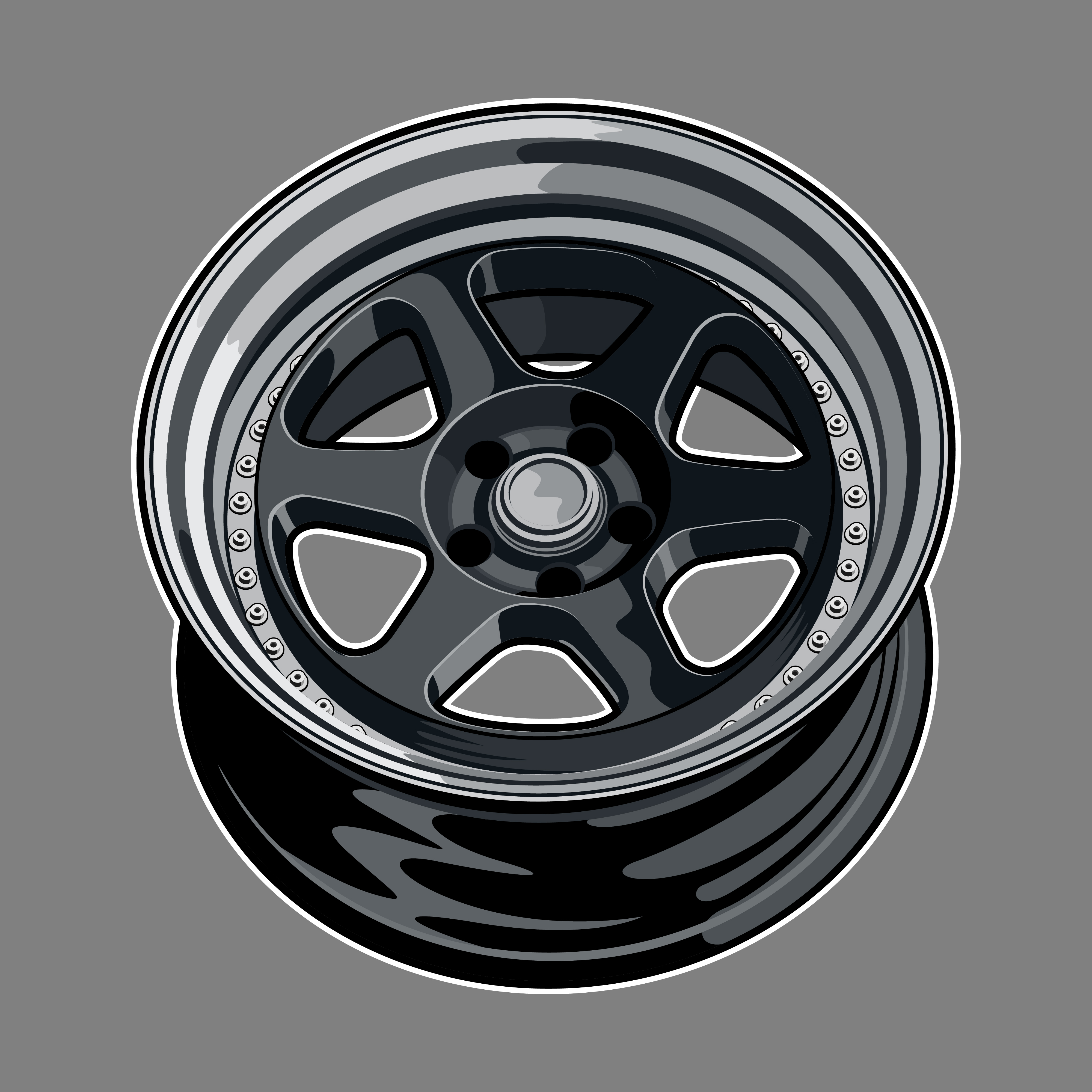 Dark Gray Car Wheel Drawing Download Free Vectors Clipart Graphics Vector Art
