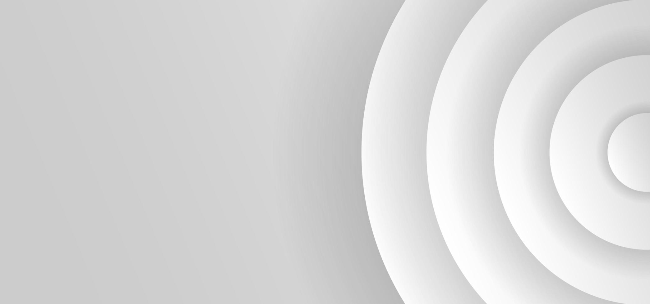 fondo de banner de corte de papel redondo blanco vector