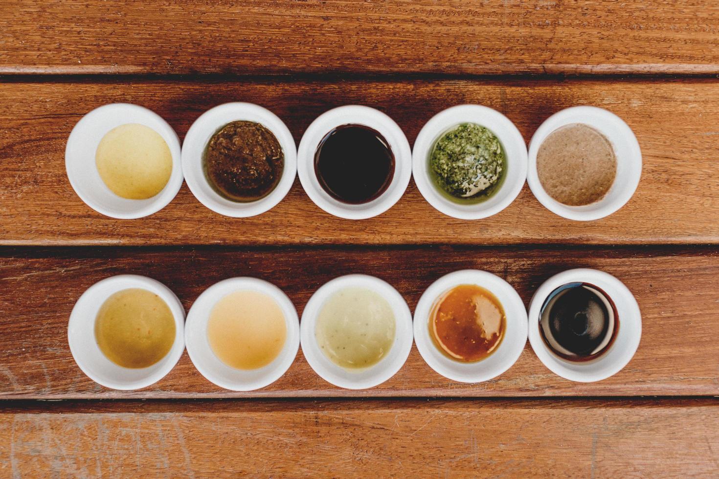 diferentes tipos de salsa foto
