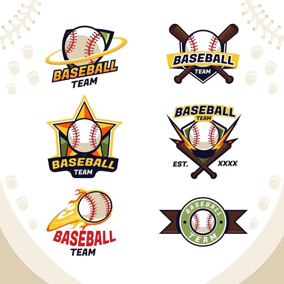 logotipo del equipo de béisbol deportivo audaz vector
