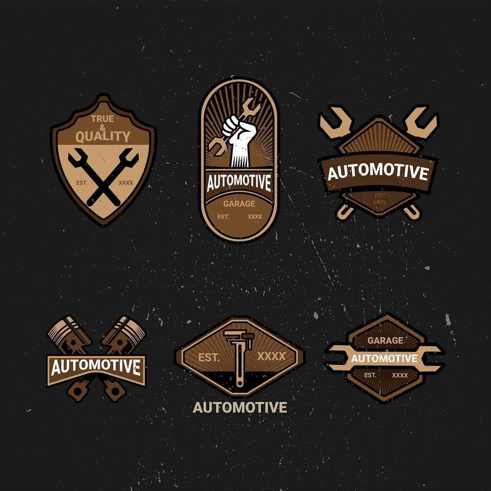 fresco logo automotriz vintage vector