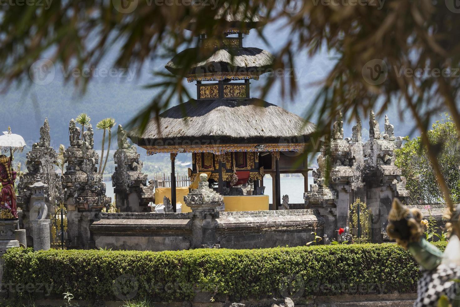 Ulun Danu temple Beratan Lake in Bali Indonesia photo