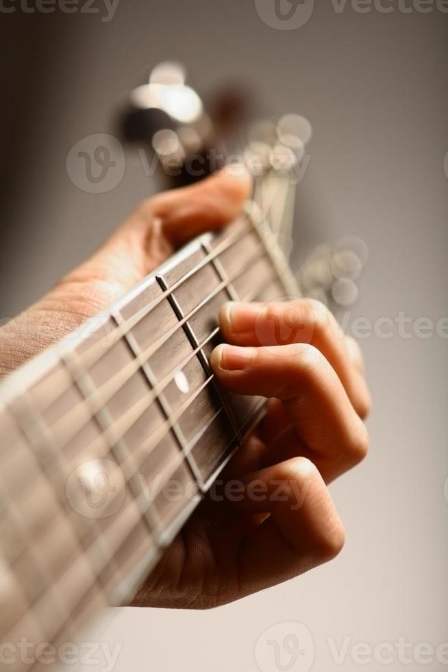Acoustic guitar detail photo