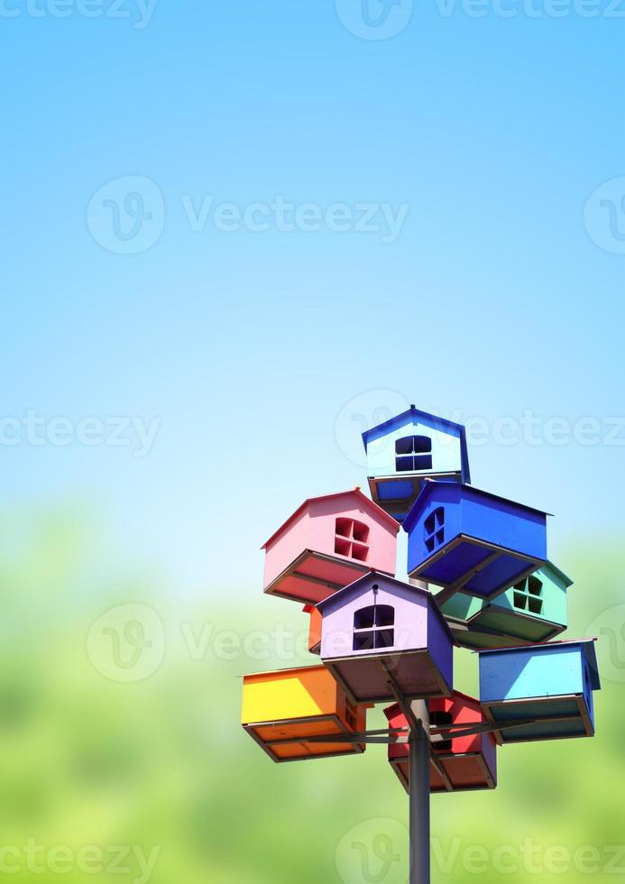 Colorful nesting boxes photo