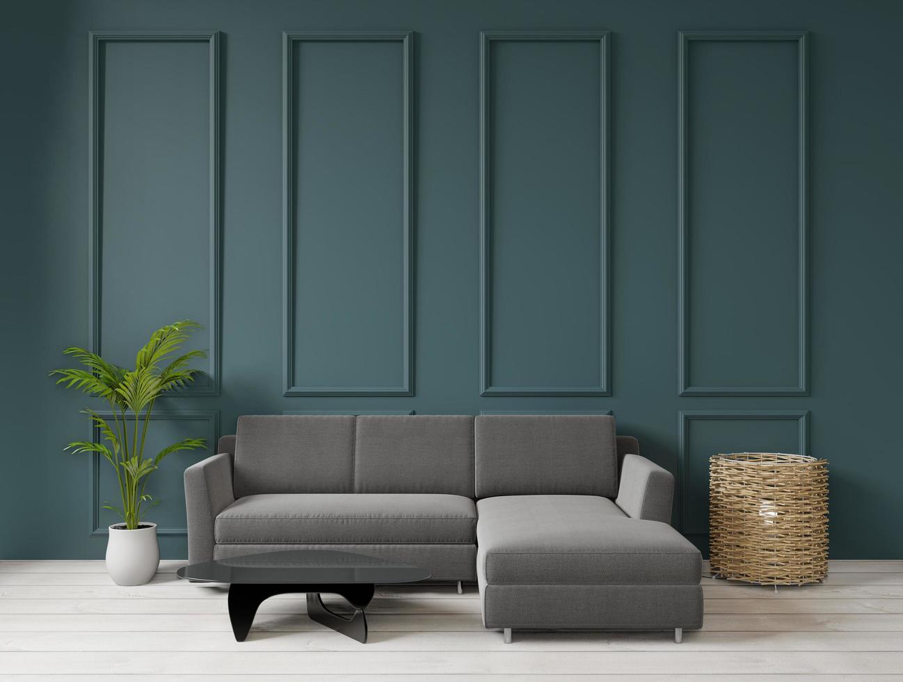 sala de estar estilo art deco, representación 3d foto