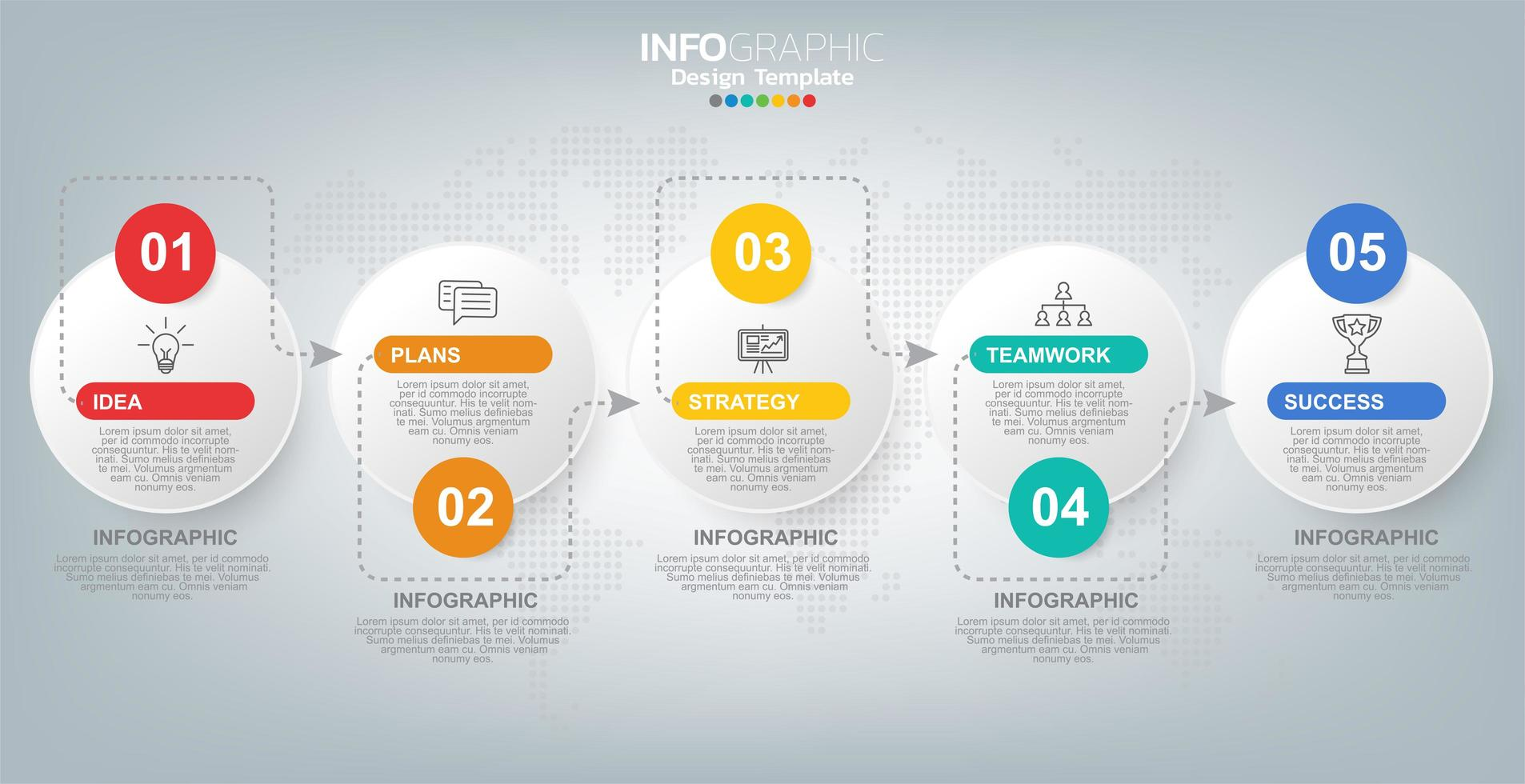 Infographics for business with success concept vector
