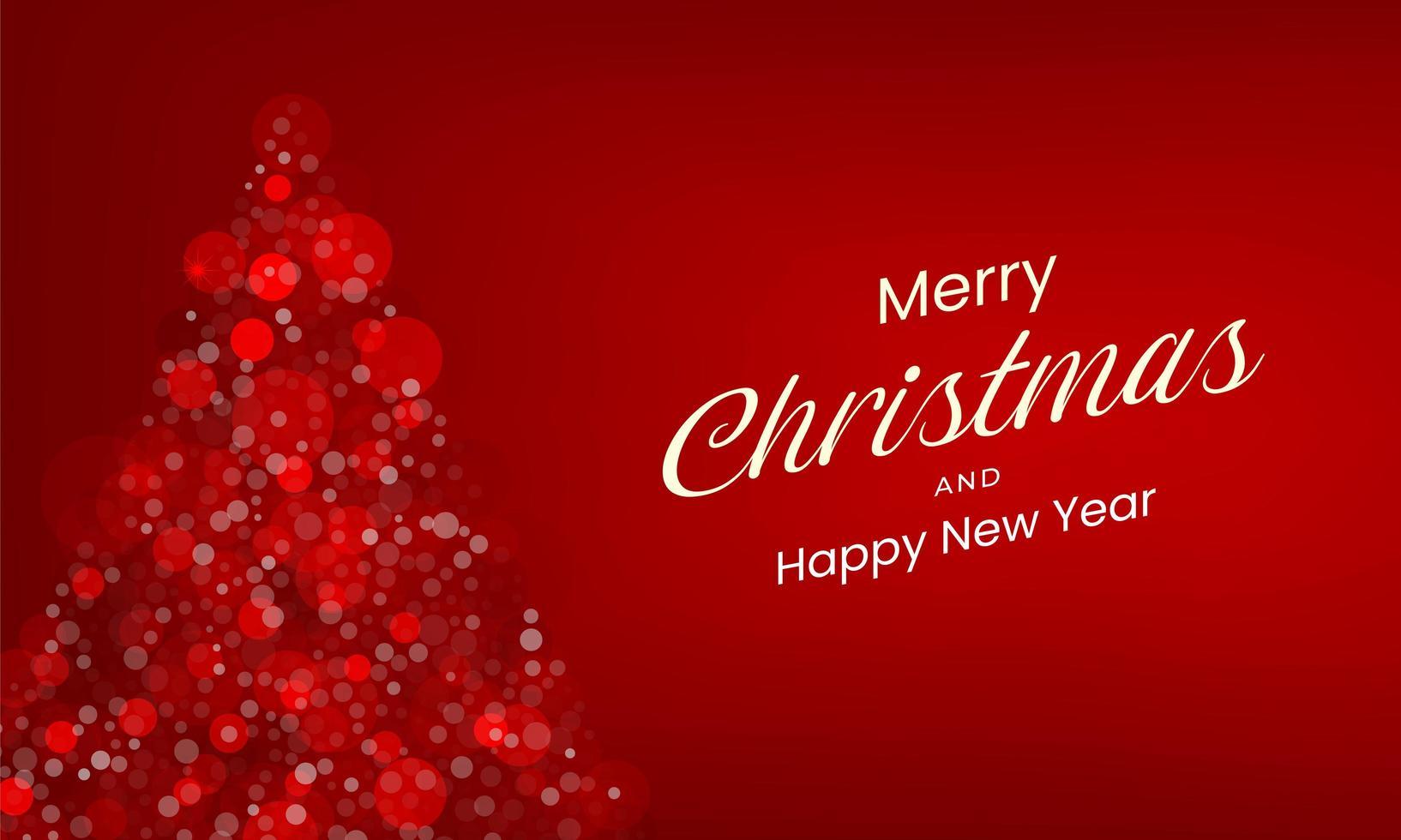 fondo rojo feliz navidad vector