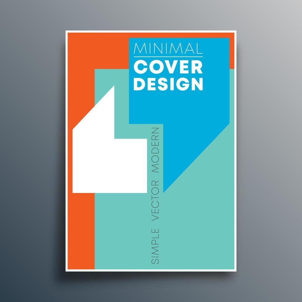 Plantilla de póster con diseño de comas de cita vector
