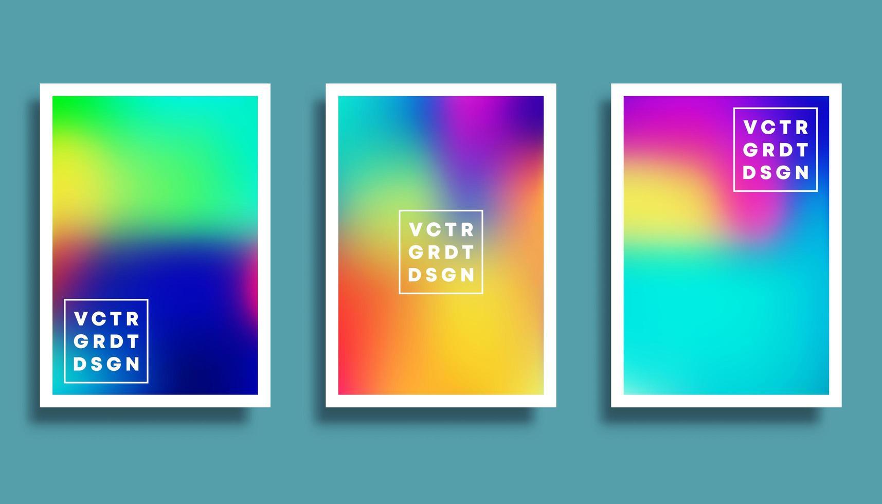 conjunto de fondos coloridos degradados borrosos vector