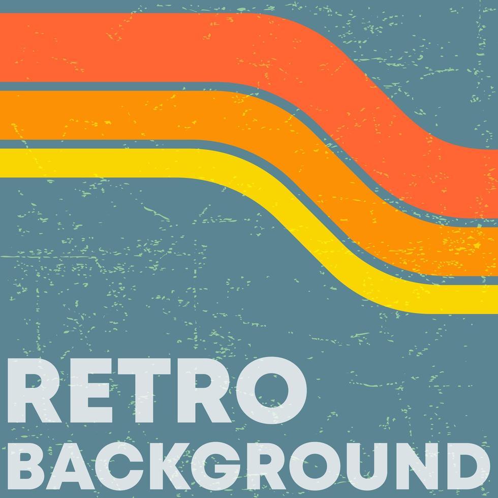Fondo de textura grunge retro con rayas de color vintage vector