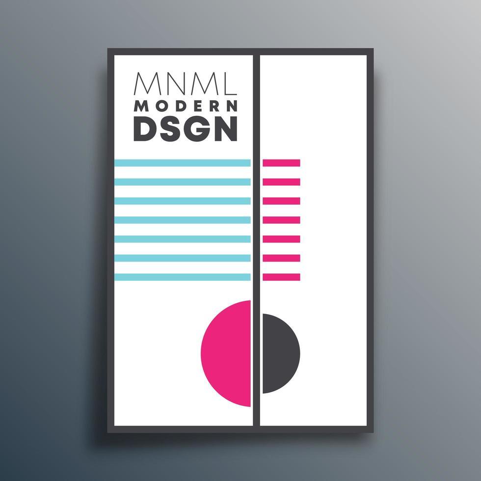 diseño moderno con formas geométricas vector