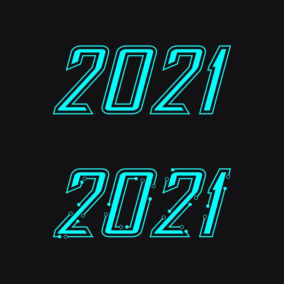 2021 new year icon vector