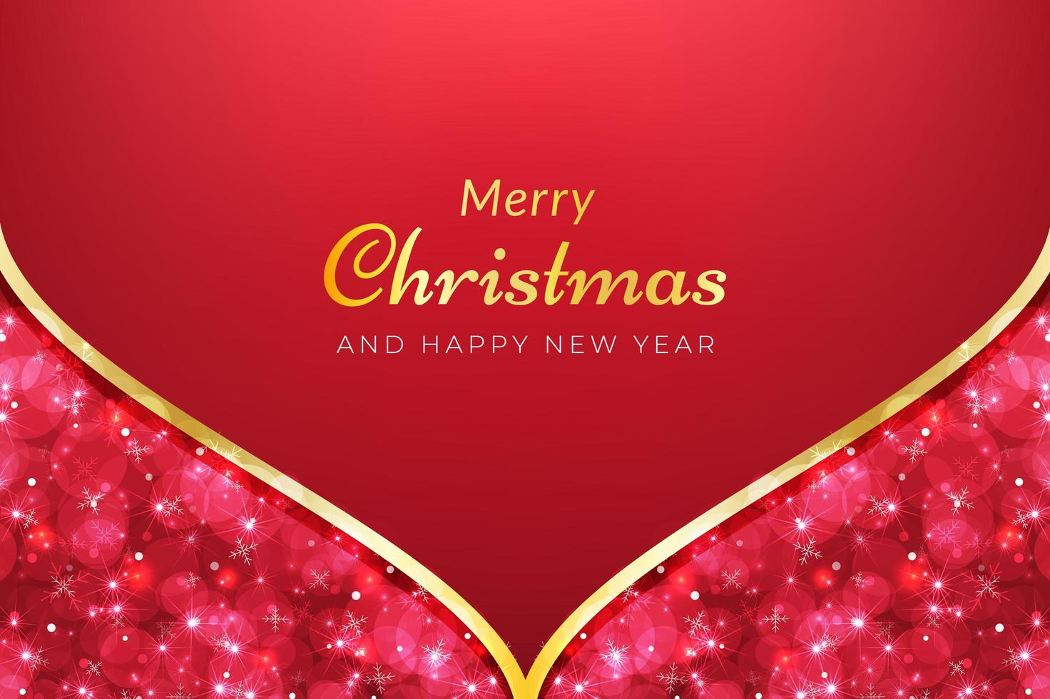 Red Merry Christmas background vector