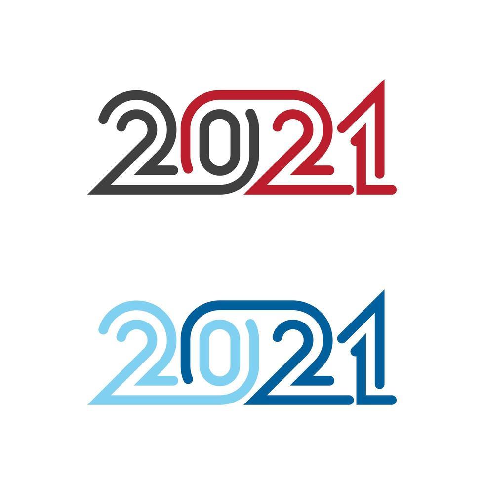 2021 conjunto de números vector