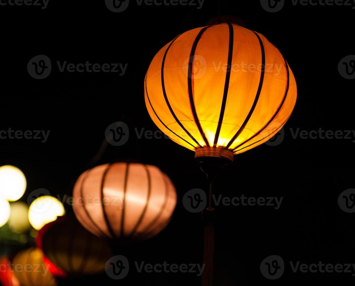 Traditional lamps in Old Town Hoi An, Vietnam photo