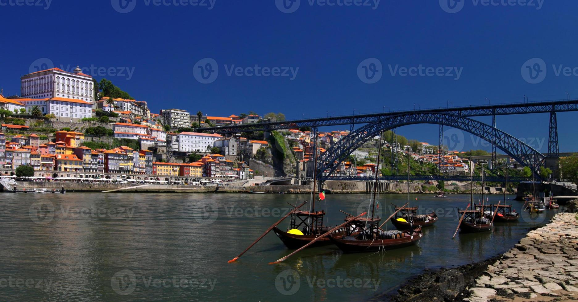 Porto  (Portugal) at river Douro photo
