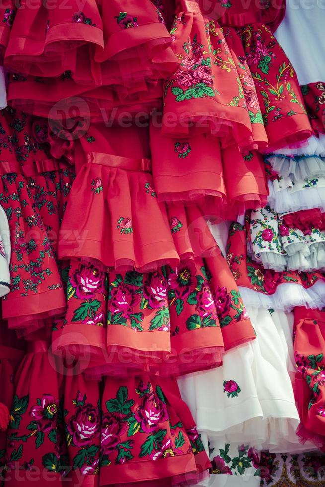 Traditional clothes in Zakopane, Poland. photo