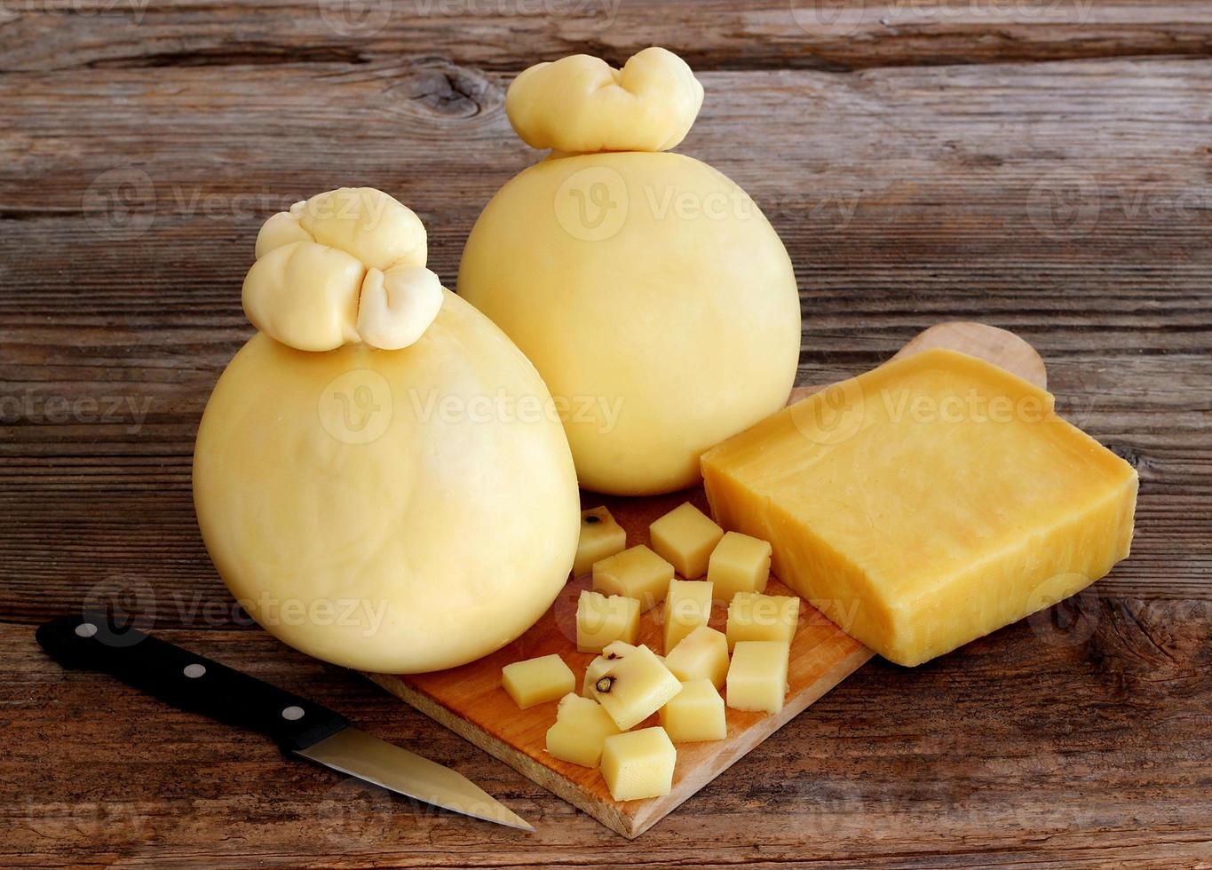 typical Sicilian cheeses photo