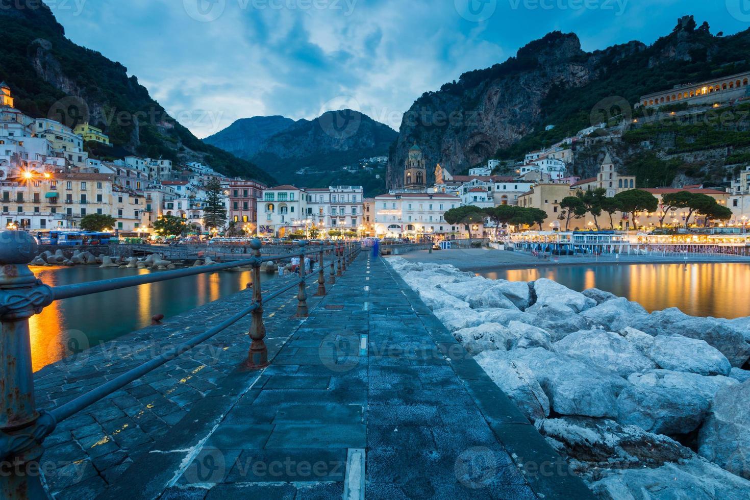 view of beautiful Amalfi photo