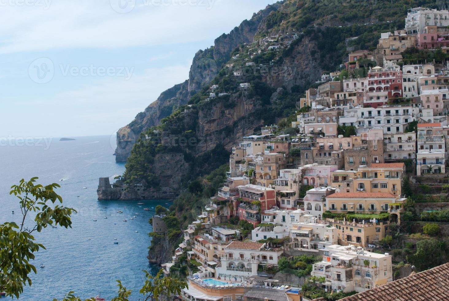 Positano village, from Amalfi Coast, Italy photo