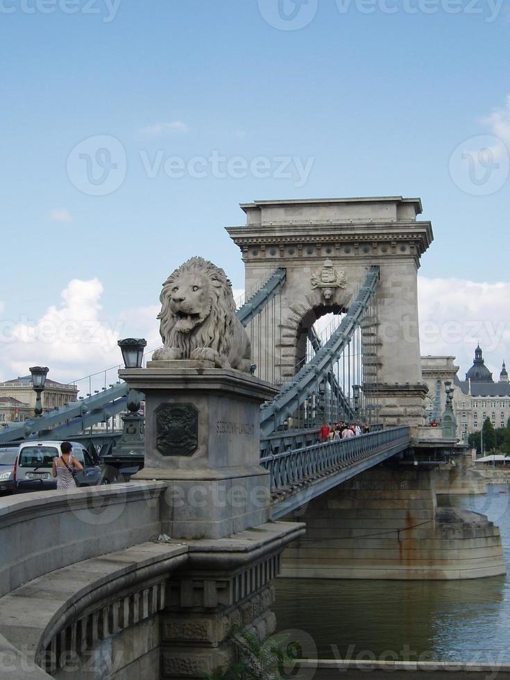 Chain bridge, Budapest, Hungary photo