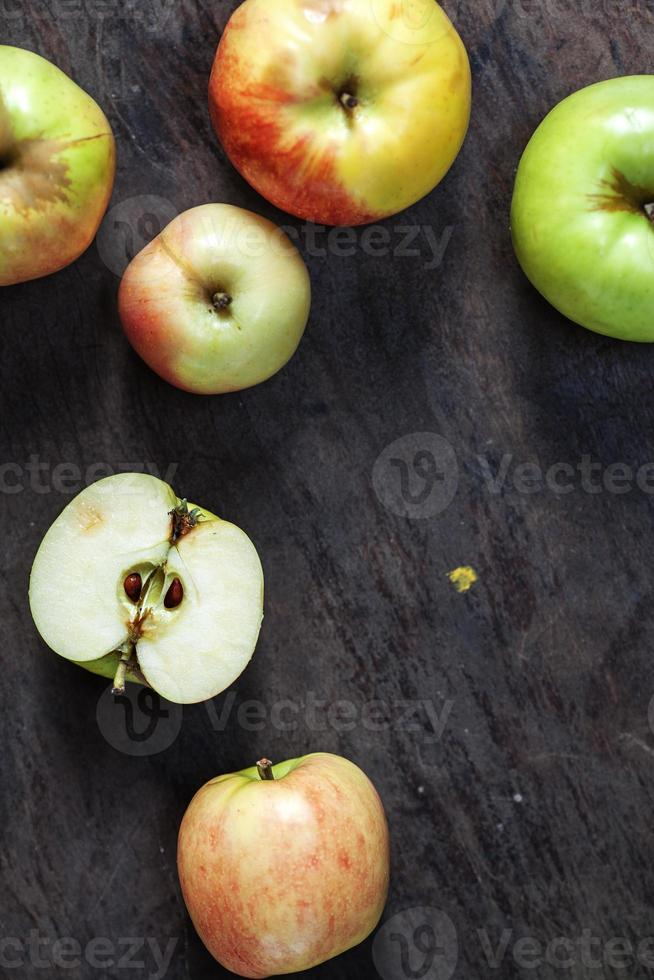 apples lying on the table photo
