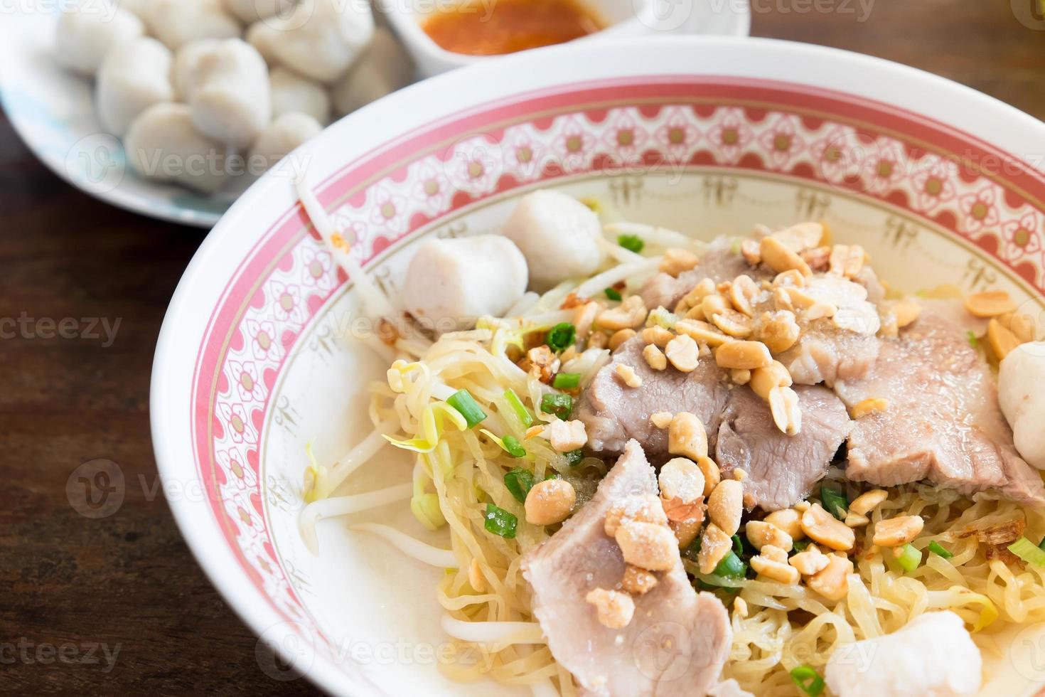 Egg Noodles Soup with Fish Balls photo