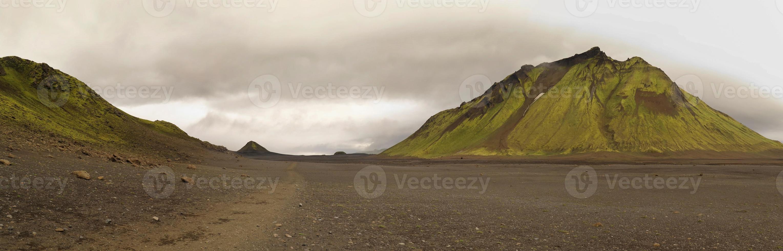 lanscape along  track Laugavegur photo