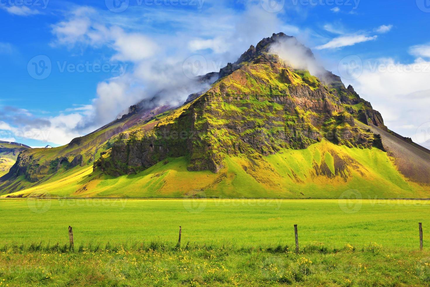 Typical landscape for the summer in Iceland photo