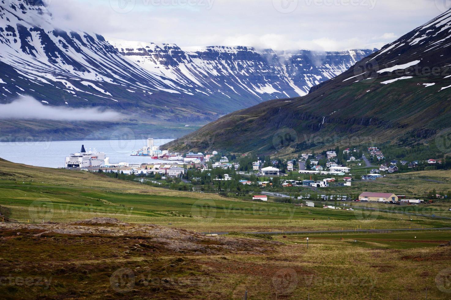 Fjord in Iceland, region of Austurland photo
