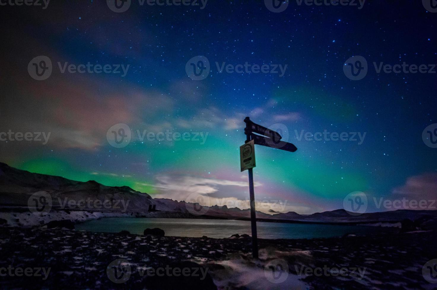 Signs of northern lights photo