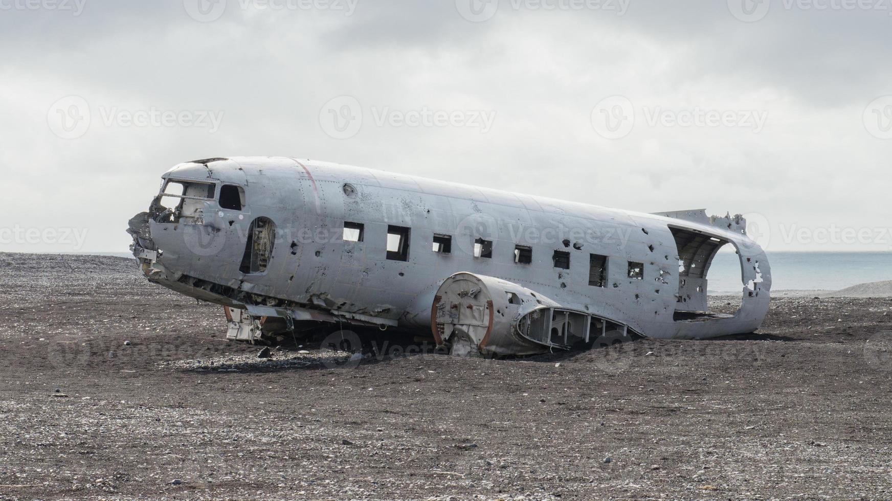 restos de un avión encontrados en el sur de islandia foto