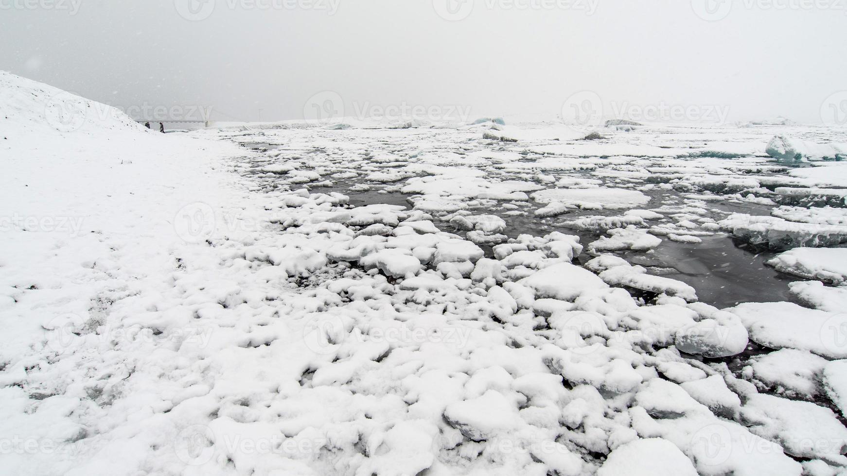Jokulsarlon , a large glacial lake in Iceland photo