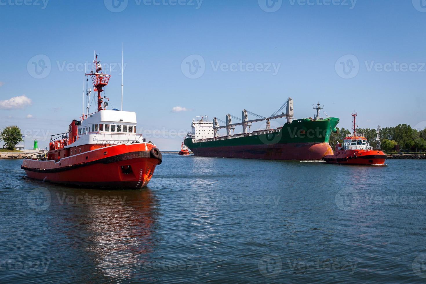 Port of Gdansk, Poland. photo