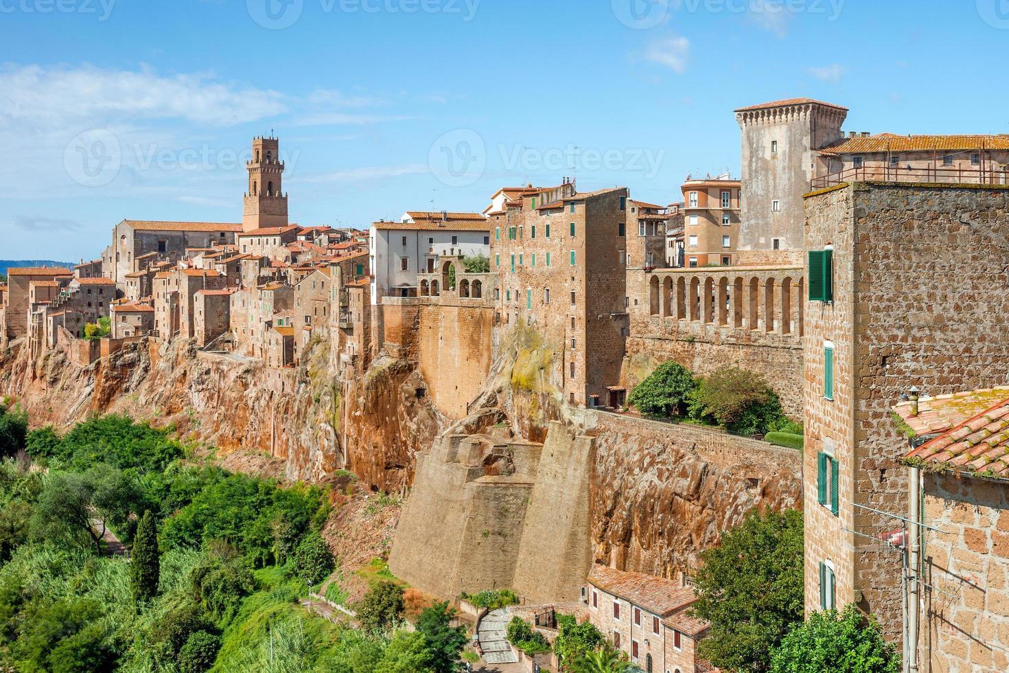 cidade velha de pitigliano toscana itália foto