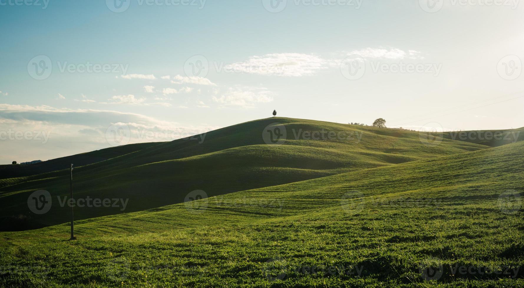 Val d'orcia na Toscana foto
