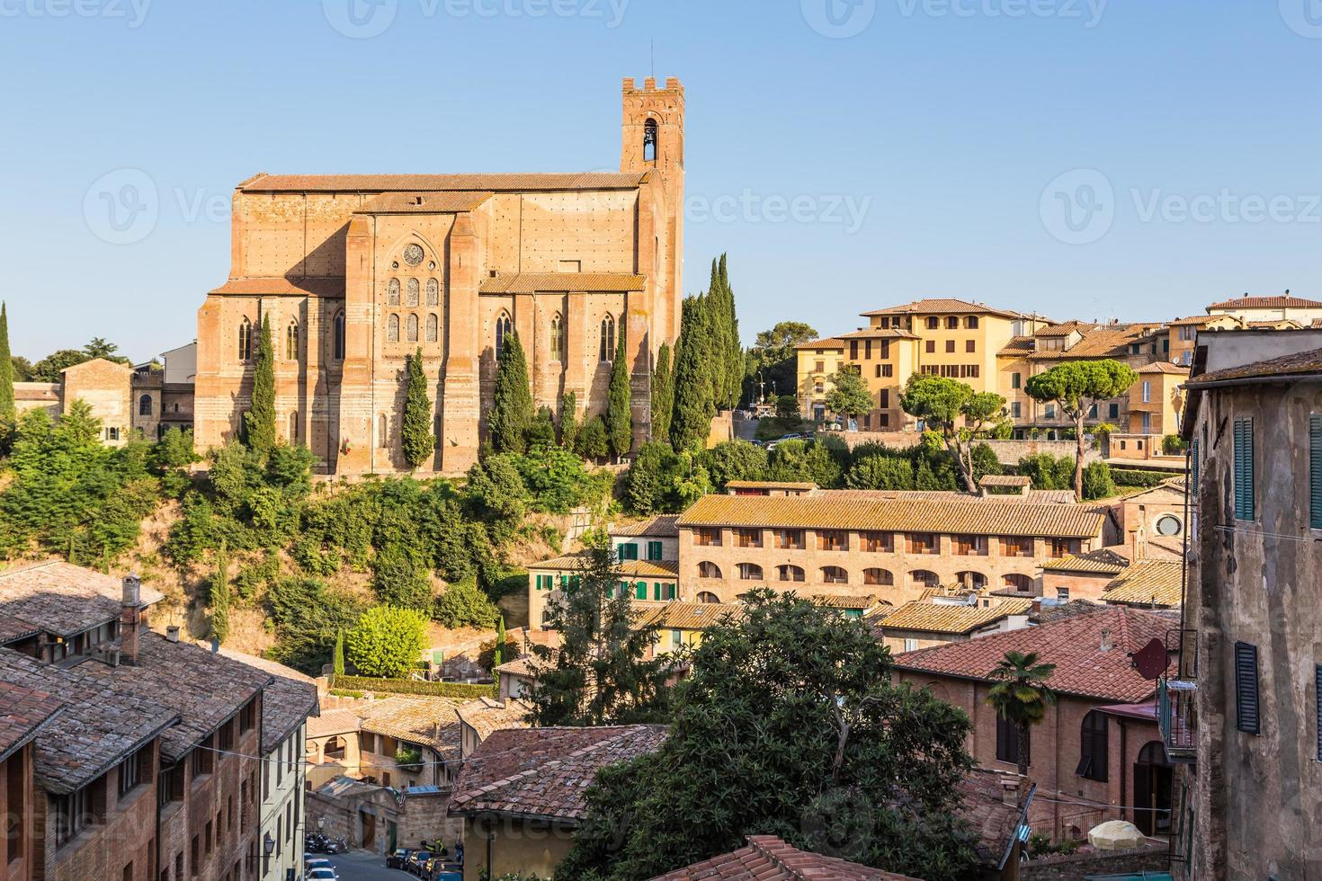 historic old town of Siena, Italy photo