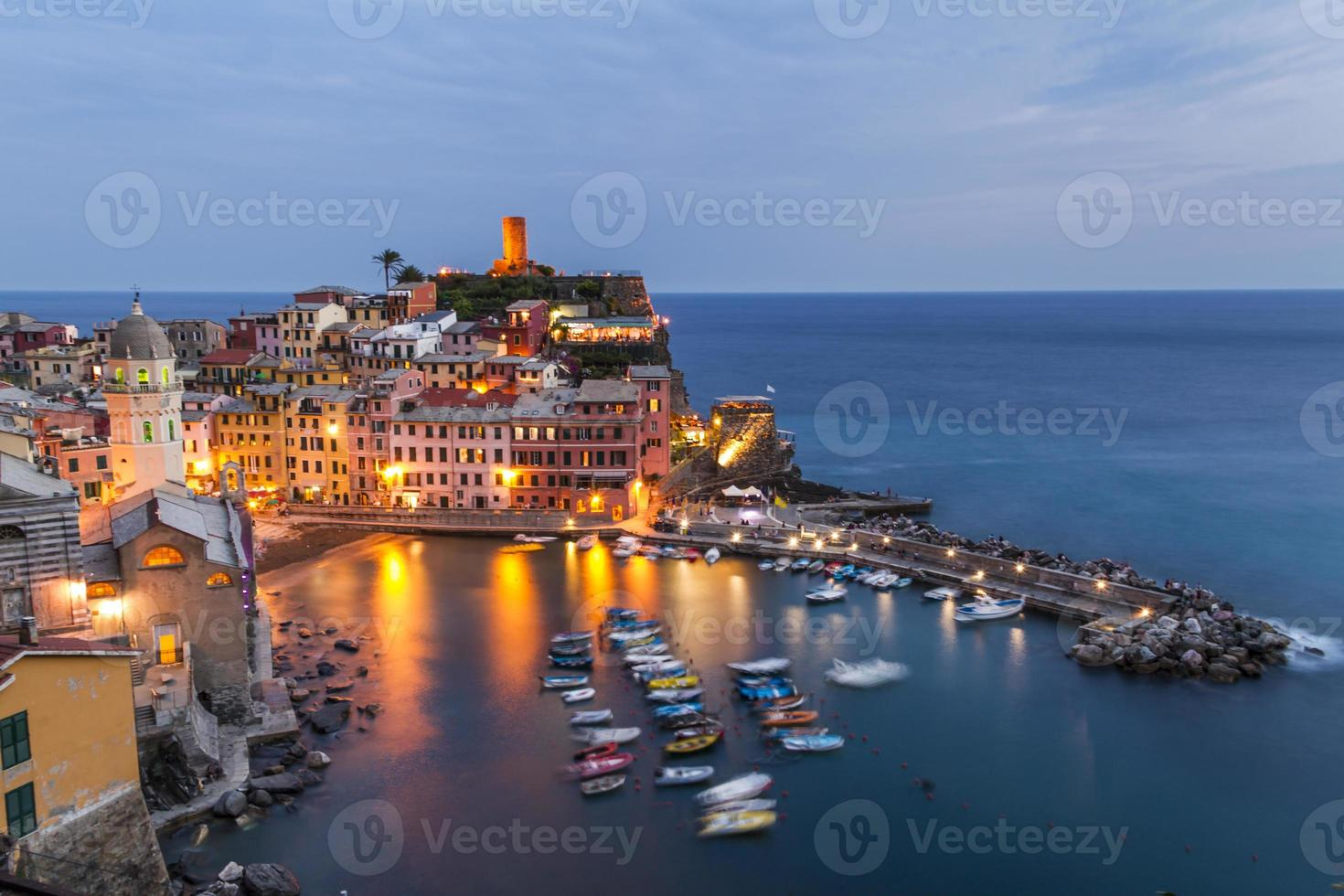 Blue Hour at Vernazza photo